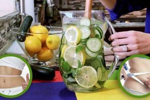 Água de Limão com Gengibre e Pepino Reduz Peso e Barriga em 5 dias